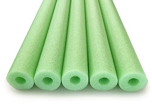 Oodles of Noodles Deluxe Foam Pool Swim Noodles - 5 Pack 52 Inch Wholesale Pricing Lime Green