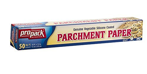 Propack Non Stick Parchment Baking Paper, Great For All Types Of Cooking, Or Baking, Size 12 x 50, 3 Pack
