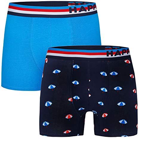 Happy Shorts 2 Pants Jersey Trunk Herren Boxershorts Boxer witzige Designs D29, Grösse:XL - 7-54, Farbe:Design 029