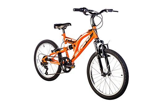 F.lli Schiano Rider Power 18V Bicicletta Biammortizzata, Arancio/Bianco, 26'