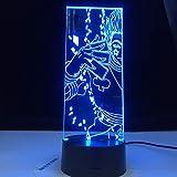 Solo 1 pieza de regalo acrílico 3d luz nocturna LED que cambia de color luz nocturna para niños decoración de dormitorio luz
