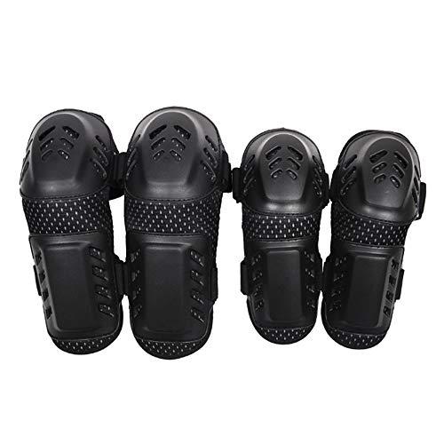 HCCX Motorfiets beschermende uitrusting set van vier - leggings - elleboog pads - anti-botsing - anti-drop - ademend - dikke spons anti-slip - geschikt voor motorrijden - unisex