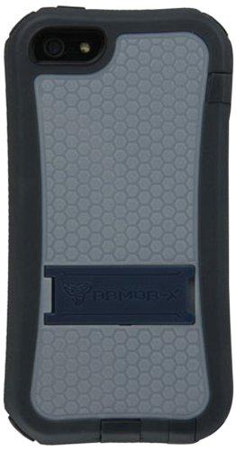 Armor-X PG-i5-NY Armor ProGear 360-deg Cover con Dispositivo di chiusura, Supporto e Clip per cintura per Apple iPhone 5/5s navy Blu/ Giallo