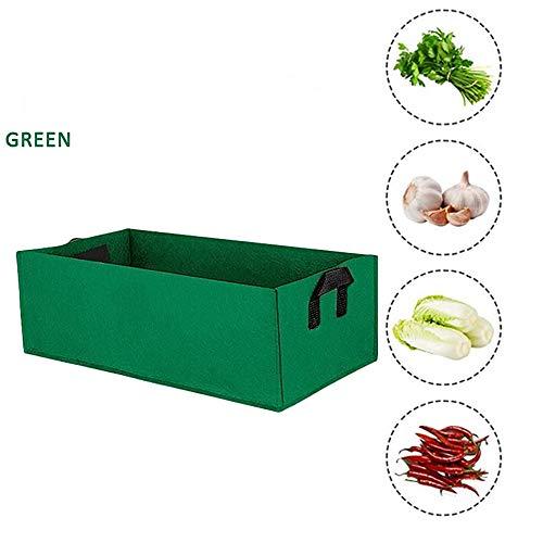LGFB Sac de Croissance végétale rectangulaire légumes Sacs en Croissance La Culture de Jardinage Durable Avait pour la Pomme de Terre Tomate récipient Carotte Fruits Divers,Vert,50 * 30 * 20cm