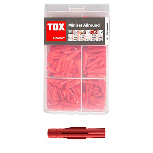TOX Mini-Set Allround, Allzweckdübel-Sortiment für fast alle Baustoffe, 240 tlg., 094900081