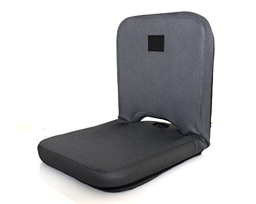 Omlove Prana Folding and Reclining Yoga Meditation Floor Chair with Padded Back Support,...