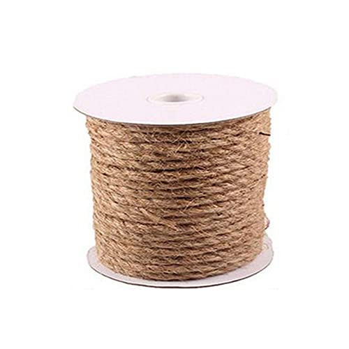 showyow Hemp Rope Jute Rope, 4mm/6mm/8mm/10mm Thick Natural Solid Braid Sisal Rope, for Tie/Pull/Swing/Climb and Knot,10m_10mm