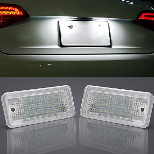 A-U-D-I Kennzeichenbeleuchtung LED Kennzeichen Licht Auto Nummernschildbeleuchtung Nummernschilder Licht für A3, S3, A4 B7, S4 B7, RS4 B7, A6 C6, S6 C6, RS6 C6, A5 Cabrio/Cabriolet 08~