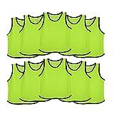 Ronex Sports Petos de Entrenamiento para niños, jóvenes y Adultos (Petos Deportivos, Petos de Futbol) - Pack de 10 Unidades Fluorescente, Niños...