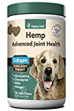 NaturVet – Hemp Advanced Joint Health for Dogs - Plus Hemp Seed – Supports Overall Joint Health – Enhanced with Glucosamine, MSM, Chondroitin, Collagen & Omega Fatty Acids – 120 Soft Chews