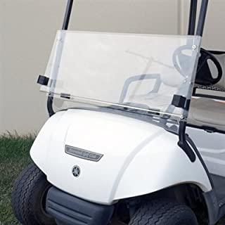 Yamaha G22 Clear Fold Down Impact Resistant Windshield for Yamaha G22 Golf Cart - Quick Disconnect