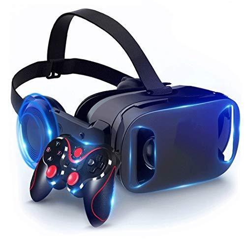 JYMYGS Gafas VR, Gafas de Realidad Virtual, VR Glasses Visión Panorámico 360 Grado Película 3D Juego Immersivo para Móviles 4.0-6.0 Pulgada para iPh X/7/6s 6/Plus, Galaxy s8/ s7, etc. N075JL