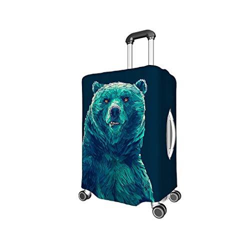 Moderna Funda para Maleta de Viaje, Personalizable para excursiones de 18/24/28/32 Pulgadas Blanco Blanco l (25-28 Inch)