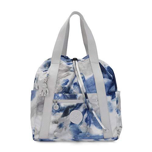 Kipling Womens Art Small Tote Backpack Tie Dye Blue One Size