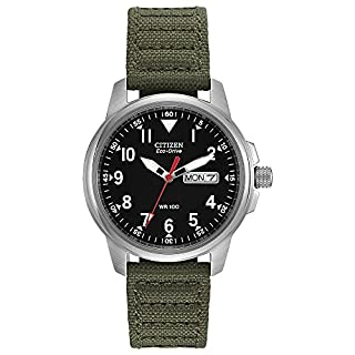 Citizen Eco-Drive GarrisonQuartz Unisex Watch, Stainless Steel with Nylon strap, Field watch, Green (Model: BM8180-03E) (B000EQS1JW)   Amazon price tracker / tracking, Amazon price history charts, Amazon price watches, Amazon price drop alerts