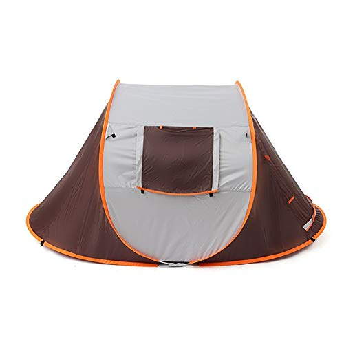 WanXingY 2-3 People Throw Tent Outdoor Automatic Tents Double Layer Waterproof Camping Hiking Tent 4 Season Outdoor Large Family Tents (Color : Dark Khaki)