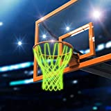 Bionweal Professional Basketball Net Replacement Luminous Nightlight Basketball Net Outdoor for...