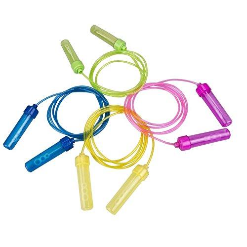 Megaprom Outdoor 2,2m Kinder Springseil mit Seifenblasen, Sprungseil, Seilspringen, Hüpfseil, Rope, Spielzeug für Draußen