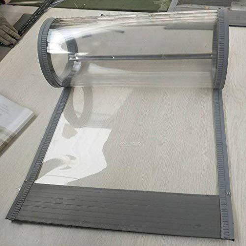 Transparente Cortina Magnética,Invierno PVC Mudo A Prueba De Polvo Cortina Adecuado Para Supermercado Hotel Centro Comercial-40Ancho cm1.5mm-180cm