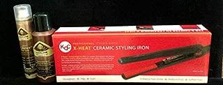 KQC X-Heat Tourmaline Ceramic Hair Straightener Flat Iron w/Free Bonus Hair Care Set