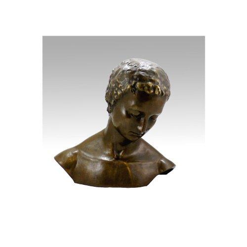 Preisvergleich Produktbild Kunst & Ambiente - Geneigter Frauenkopf - Wilhelm Lehmbruck - Bronzebüste - Bronzefigur - Deko - Wohndeko - Dekoration - Einrichtung