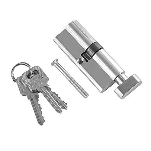 Deur-sluitcilinder, veiligheidscilinder, koper, aluminium, diefstalbeveiliging, binnenkant, met 3 sleutels