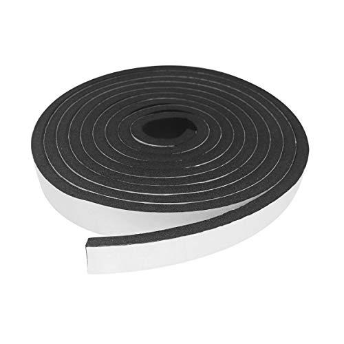 すき間ふさぎ 隙間テープ 防音テープ 耐候性 、防寒、防虫 シーリング 節電 冷暖房効率アップ 高密度防音絶縁 (12mm*3mm*15m)