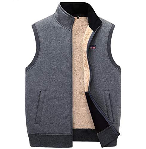 Dikke katoenen vesten mannen los dik fleece vest vest vest vest heren bovenkleding mannen jassen tops