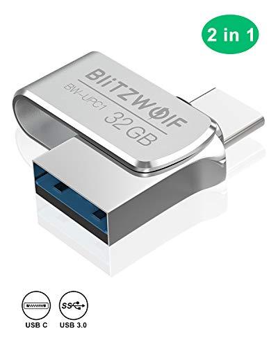 Memoria USB 32GB, BlitzWolf USB 3.0 +Tipo C Memoria