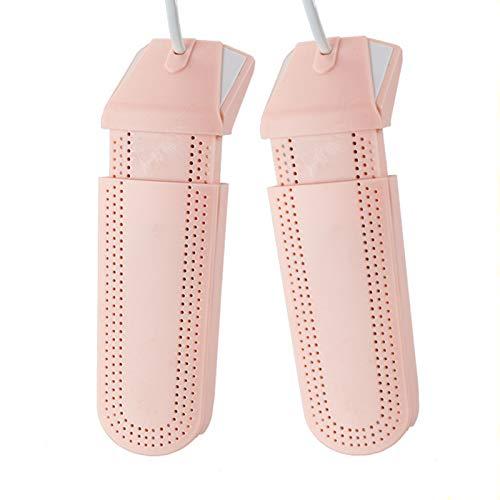 LTL Retráctil Zapatos Calentador, Secador De Zapatos Eléctrico con Efecto Desodorante, Esterilizante Y Deshumidificante De 360ª Integral Calentador De Calzado,Rosado