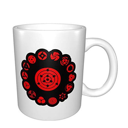 XCNGG Taza de café de la taza de la taza del cielo estrellado de la pendiente de la taza de cerámica Coffee Tea Ceramic Mugs Uchiha Sharingan Personalized Cup Gift Kitchen Bedroom Decor 11 Oz(330