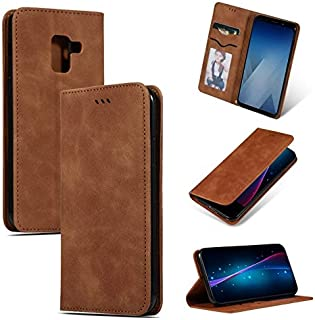 SDDLRMM Case & Cover For Samsung Galaxy A8 Plus 2018 Wallet Case Cover, Leather Magnetic Book Design Case, Slim Folio Protective Case with Card Slots/Kickstand for Samsung Galaxy A8 Plus 2018