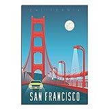 Vintage-Reiseposter, San Francisco, Leinwand-Kunst, Poster,