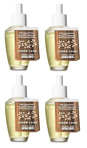 Bath and Body Works 4 Pack Cider Lane Wallflowers Fragrances Refill....