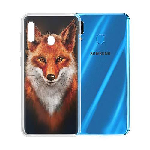 Yoedge Samsung Galaxy A20e Hülle, TPU Silikon Transparent Schutzhülle Handyhülle mit Muster Motiv Hülle Superdünn Stoßfest 360 Grad Bumper Weiche Cover für Samsung Galaxy A20e 5,8
