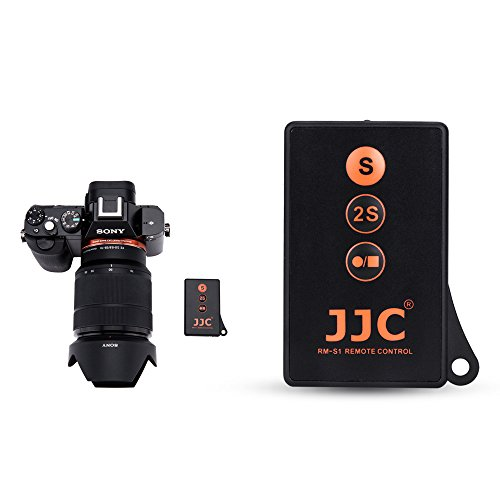 JJC RMT-DSLR1 IR Wireless Remote Control with Extra Start/Stop Video Recording Button for Sony A6000 A6100 A6300 A6400 A6500 A6600 A7 III A7 II A7 A7S II A7S A7R IV A7R III II A9 & More Sony Camera