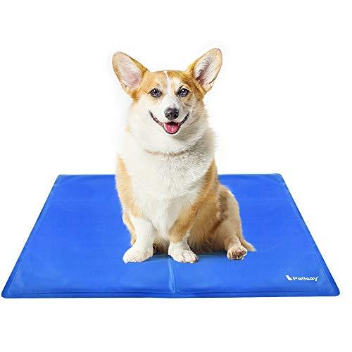 PetIsay Kühlmatte Hunde – Druckaktivierte Gel-Kühlmatte für Haustiere – Halten Sie Ihre Hunde und Katzen bequem den ganzen Sommer - Vermeiden Sie Überhitzung(65 * 50cm)