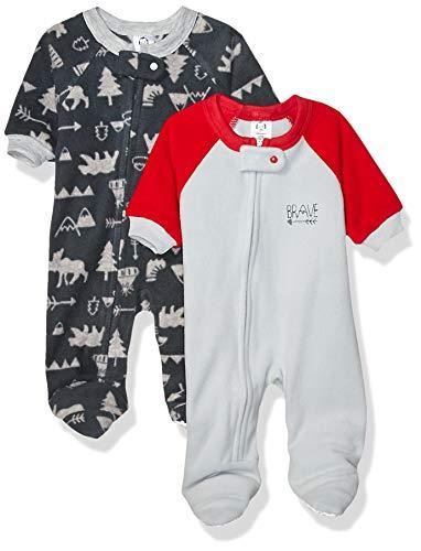 Gerber Baby Boy's 2-Pack Blanket Sleeper Sleepwear, Red/Gray Camping, 24 Months