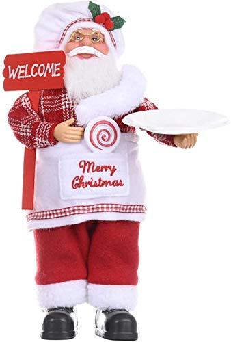NLRHH Christmas Santa Claus Figurine Desktop Santa Claus Figure on Ornament Gift Doll Doll Toy Table Decor Festival Current Home Ornament Peng (Color: C)-C