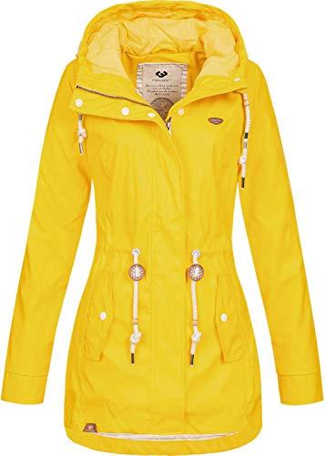 Ragwear Damen Regenjacke Monadis Rainy 1911-60037 Yellow (6028) XXL