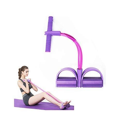WZPG Banda de Resistencia de Pedal de Fitness, látex Natural de 4-Tube Yoga Deportes de Yoga, Abdominales, Gimnasio y Cinta de Aptitud.