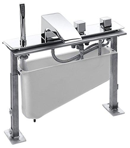 Roca Thesis-T - Kit grifo termostático de repisa para baño y ducha, caño alto con inversor, con ducha de mano, . Griferias hidrosanitarias termostaticas. Ref. A5A2950C00