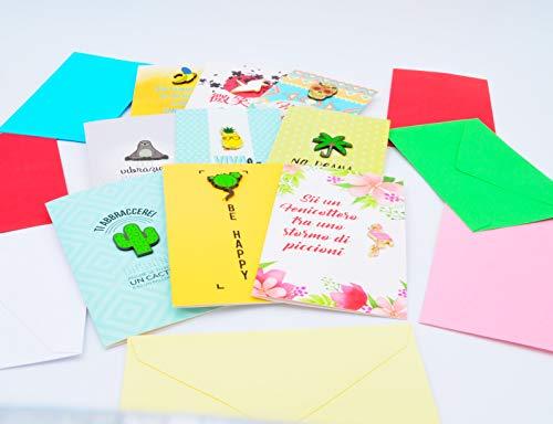 Pins uitnodigingskaarten, assortiment pin app, 9 kleurrijke naalden voor bevestiging op de gewenste plaats 12 stuks