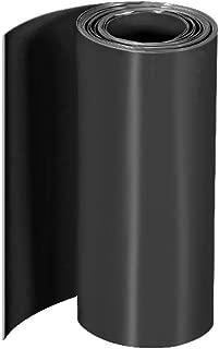sourcing map PVC Thermor/étractable Tube 95mm Plat Largeur Enveloppe pour Double Couche 18650 5 M/ètre Noir