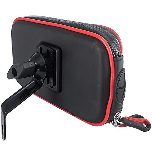 CMOIR Tenedor de teléfono de Moto Ajustable Metal Bolsa de teléfono móvil Motocicleta Soporte Impermeable Bicicleta Teléfono Móvil Soporte Anti-Bump Holder Titular del teléfono de la Bicicleta