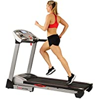 Sunny Health & Fitness Electric Folding Treadmill with Auto Incline