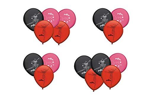 ALMACENESADAN 0677, Pack 16 Globos Lady Bug; para Fiestas y cumpleaños. Ideal para Decorar Tus Fiestas.