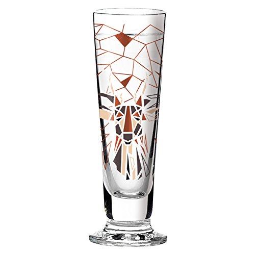 Ritzenhoff Black Label Schnapsglas, Kristallglas, Schwarz, Braun, Kupfer, Beige, 3.5 cm