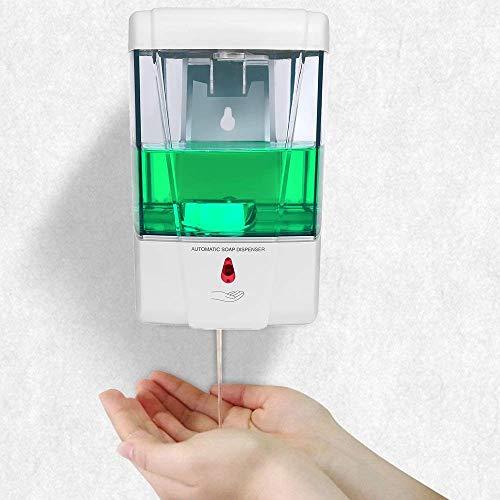 Dispensador Gel Hidroalcoholico,700ML Dispensador de Jabón Automático con Sensor de Movimiento Infrarrojo,Evitar Las bacterias.Dispensador de Desinfectante Manos para Baños, Cocinas,Hoteles