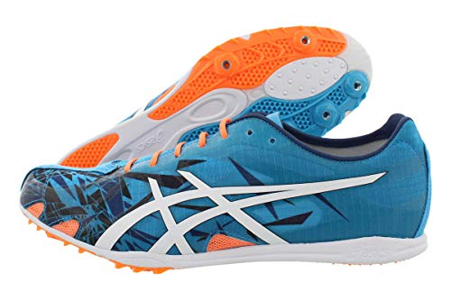 ASICS GUNLAP Track Shoe, Island Blue/White/Hot Orange, 13 M US
